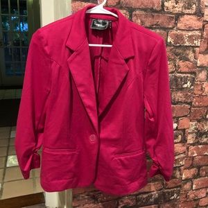 Christian Siriano Jackets & Coats - S/M Pink cotton blazer